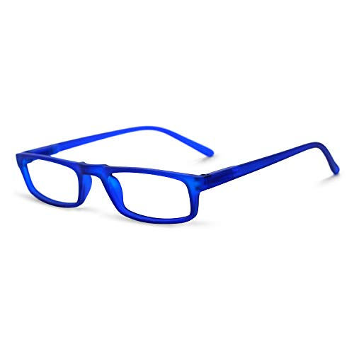 - OCCI CHIARI Womens Rectangular Reading Glasses TR90 Thin Lightweight Reader (Blue,2.0)