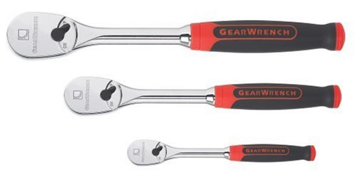 GearWrench 81207 3 Piece Ratchet Set withCushion (Cushion Grip Teardrop Ratchet)