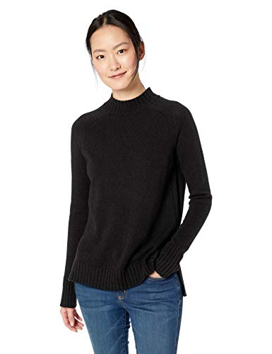 - Amazon Brand - Daily Ritual Women's Mock-Neck Tunic Sweater, black, Small