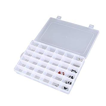 36 Ranuras para celdas Caja de herramientas portátil Piezas electrónicas Perlas Tornillo Anillo Joyería Componente Caja Caja de almacenamiento de plástico ...