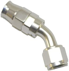 Stainless Steel Line 45 Adaptor -4 AN Silver