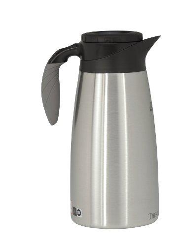 Wilbur Curtis Thermal Dispenser Pour Pot, 1.9L S.S. Body S.S. Liner Brew Thru Tall - Commercial Airpot Pourpot Beverage Dispenser - TLXP1901S000 (Each)