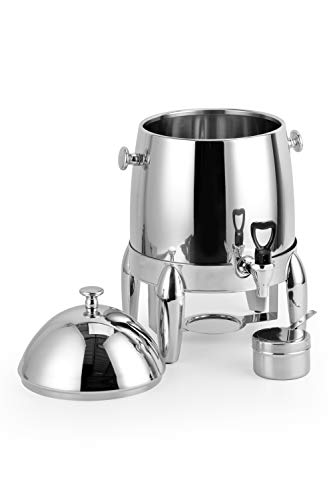 ChefMaid Extra heavy coffee urn 3 Gallon capacity - durable and long-lasting - stainless H/D base - includes a fuel holder - shiny silver surface by ChefMaid (Image #2)