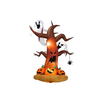 this item halloween inflatables 8 tall inflatable dead tree w ghost on top pumpkins on bottom - Halloween Inflatables Clearance