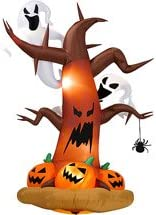 J. Marcus G-23391 8' Airblown Dead Tree with Ghosts and Pumpkin