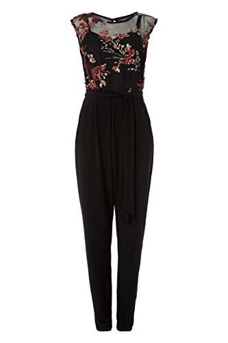 f555f80d8f72 Roman Originals Women Embroidered Mesh Floral Jumpsuit - Black 10 ...