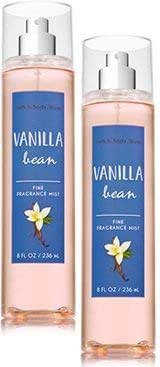 Bath and Body Works 2 Pack Vanilla Bean Fine Fragrance Mist. 8 Oz.