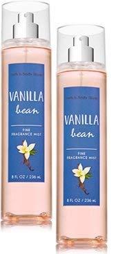Bath and Body Works 2 Pack Vanilla Bean Fine Fragrance Mist. 8 Oz.