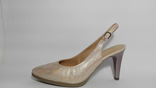 Zapatos de Piel con Talon Descubierto -Desire 2315 - Rosa