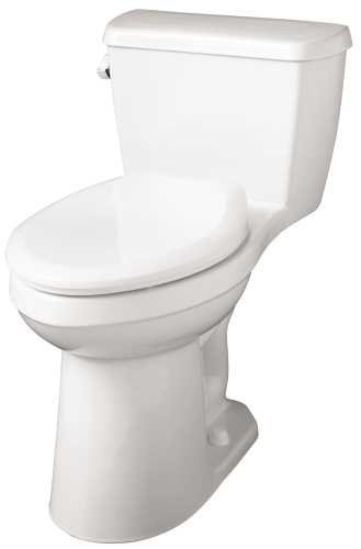 postalproducts 21-014 Gerber Avalanche 1.28 1-PC Ada Elongated Compact Siphon Jet Toilet, White, 28.5'' Height, 16.25'' width, 26.75'' Length by postalproducts