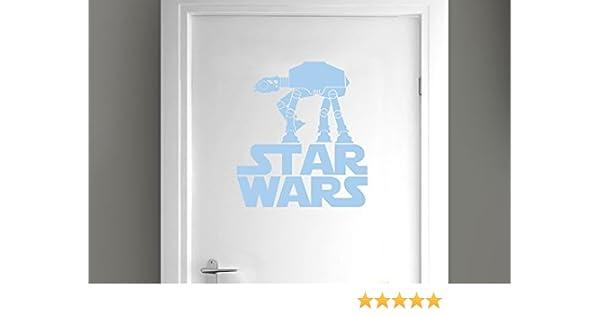 CUT IT OUT Star Wars - Pegatinas Decorativas para Puerta (44 x 40 cm), Color Azul Claro
