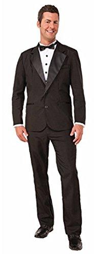 Mens Tuxedo Costume (Forum Novelties Men's Instant Zip-Up Tuxedo Costume, Black,)