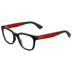 GUCCI Eyeglasses 1160 0VM8 Black Red 51MM