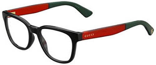 GUCCI Eyeglasses 1160 0VM8 Black Red - Gucci Eye