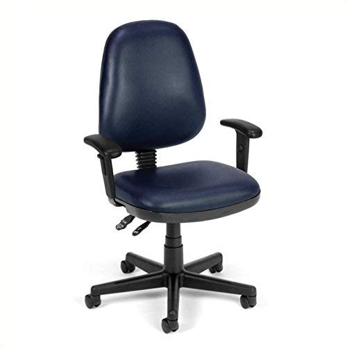 (OFM 119-VAM-AA-605 Straton Series Anti-Microbial/Anti-Bacterial Vinyl Task Chair with Arms)