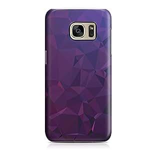 Samsung S7 Edge case Dark Purple Geomaterical Pattern 2 Metal Plate Light Weight Samsung S7 Edge cover Wrap Around
