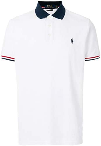 Polo Ralph Lauren Mens Custom Slim Fit Contrast Collar Polo Shirt