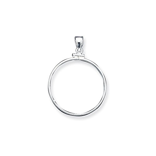 Roy Rose Jewelry Sterling Silver for U.S. Half Dollar Coin $0.50 Plain Bezel - Silver Coin 1/2 Dollar
