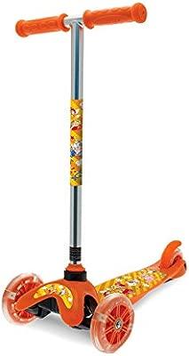 MEDIA WAVE store ® Patinete de aluminio Niños 515326 Twister Scooter 3 Ruedas luminosas H 67 cm