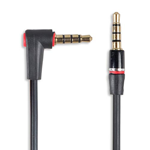 Conshine 3.5mm Audio Cable Male to Male, 3FT 90 Degree Right Angle TRRS Auxiliary Stereo Microphone Compatible Aux Cable