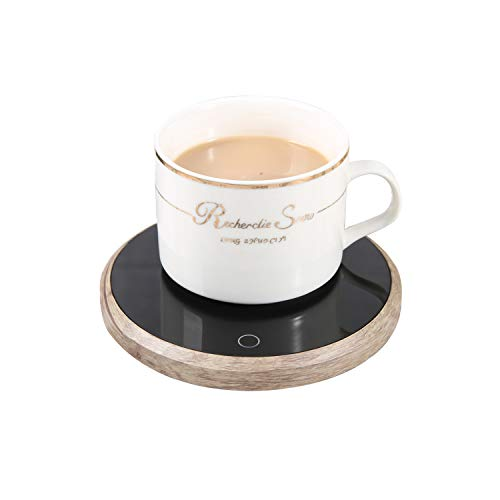 Coffee Mug Warmer, Candle Warmer Electric Beverage & Tea Cup Warmer Plate for Desk/Office/Home Use, Best Gift Idea Cup Warmer – LOOKISS (Wood)