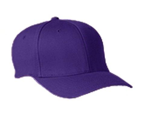 Flexfit 6277 Adult Wooly 6-Panel Cap Purple (Wooly 6 Panel Cap)