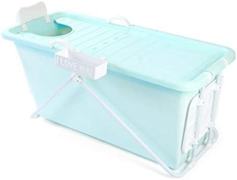 インフレータブルバスタブアダルト折りたたみ浴槽風呂バレル大人、厚いプラスチックバケツの浴槽 (Color : Blue)