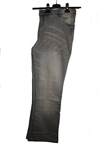 Sheego Damen Bootcut Jeans Stretchjeans in grau Gr. 50 extralang