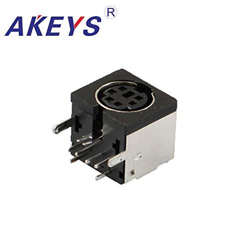 Ochoos MDC-6-02 Montagebuchse DIN Terminal 6 Buchsen S-Video Adapter Buchsen S-Anschluss