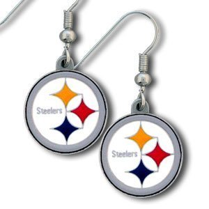 Pittsburgh Steelers NFL Team Logo Dangle Earrings