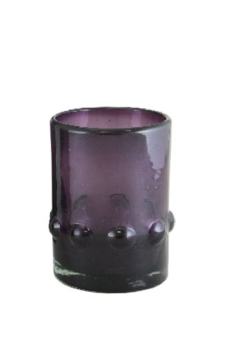 VIVAZ Bolitas Double Old Fashioned Glass, Purple Recycled...