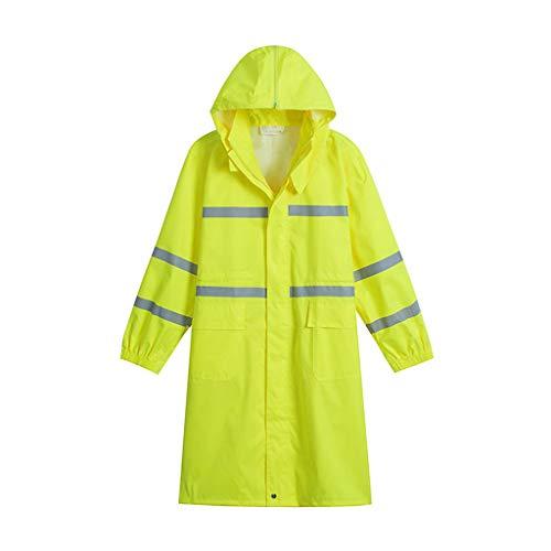 (Portable Raincoat Rain Gear Men and Women Long Adult One-Piece Raincoat Single Walking Outdoor Thick Waterproof Riding Rain Gear for Outdoor Walking Cycling (Size : 2XL))