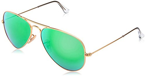 3025 112/19 Aviator Matte Gold Frame Green Flesh Lens - 3025 Aviator