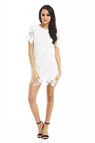 Elegantes Kleid mit Spitze CREME