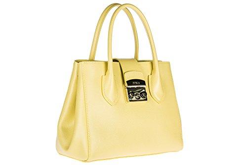 Gelb Leder Tasche Handtasche Bag Damen Furla HqwAXX