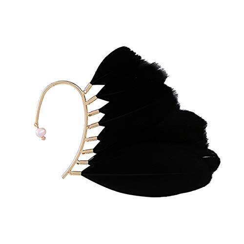 LIANKONG Hallowmas Feather Tassel Earrings Ear Wrap Charm Cuff Earring Fashion Accessory Women + Non Pierced - 1PC -