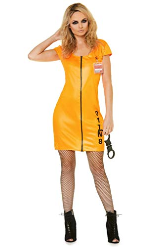 Sexy Jail Convict Costume Set - Halloween Womens