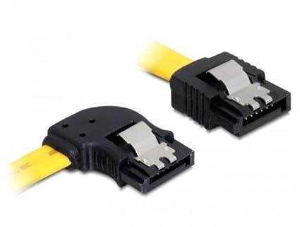 DeLock Kabel SATA III 50cm ge//ge Metall 6 Gb//s 50cm gelb