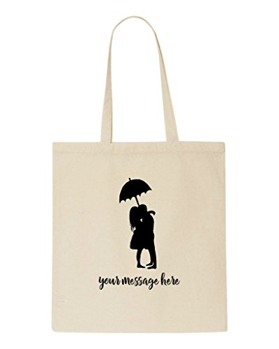 Personalised Bag Engagement Tote Couple Beige Message Party Shopper Gift Any Wedding Two qxqXztwU