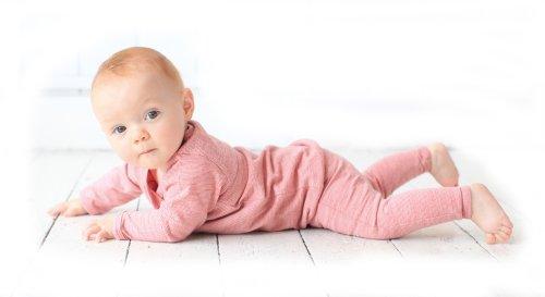 Merino Kids Long-Sleeve Thermal Set, Raspberry, for Babies 1-2 Years ()