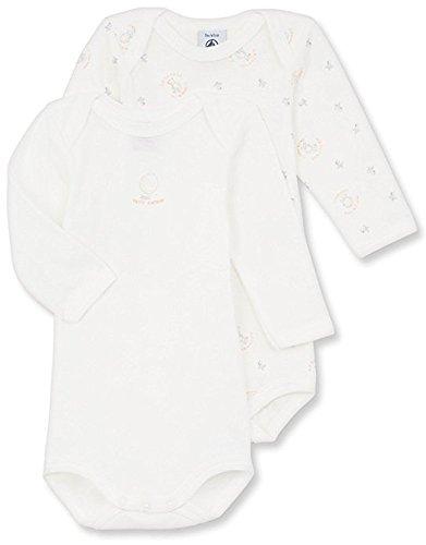 (PETIT BATEAU BABY UNISEX L/S ONESIE-BODYSUIT WHITE-PRINT STYLE 15315 SIZES 1/24 MONTHS (SIZE 18/M STYLE 15315))