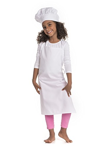 Chef Set Apron and Hat Youth White