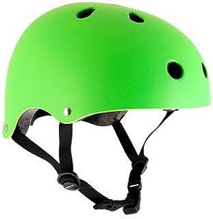 SFR Roller/Patins à roulettes Casque de Protection–Vert Fluo Skateboard/Scooter/BMX, Inliner, Longboard Casque–équipement de Protection Casque de Skateboard