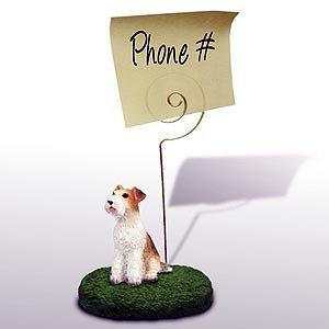 Wire Hair Fox Terrier Memo / Photo Holder ()