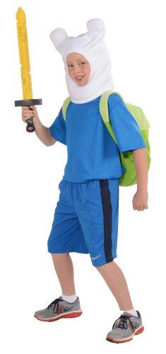 [Rubies Adventure Time Child's Deluxe Finn Costume, X-Large] (Dora Costume For Kids)