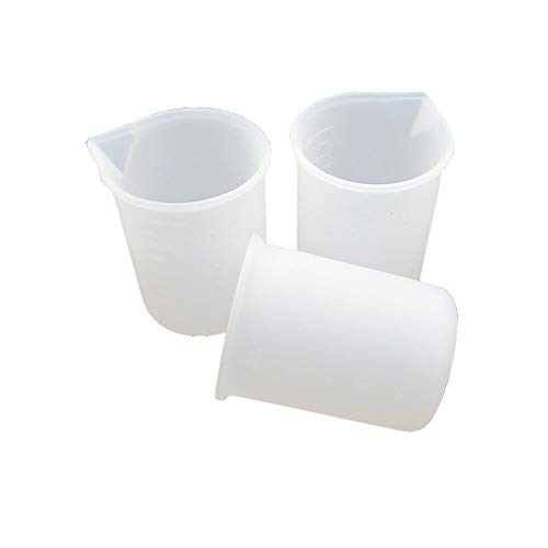 3 Pcs Silicone Measuring Cup for Resin,Glue Tools Cup Making Handmade Craft,100ml