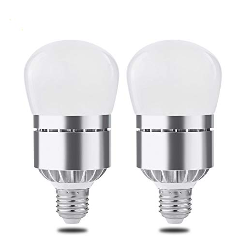 2 Pack Dusk Till Dawn Light Bulb, Witshine 100W Equivalent E26 Photo Sensor Light Bulb with Auto on/Off, Indoor/Outdoor Lighting Lamp for Porch, Hallway, Patio, Garage (12W Warm White)