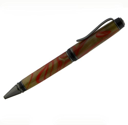 Cigar Ballpoint Pen Satin Black for woodturning project (Cigar Ballpoint)