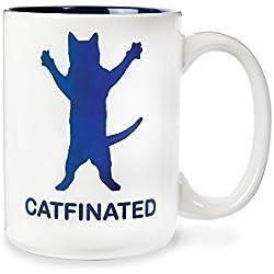 Catfinated - Ceramic Cat Coffee Mug - Beverage or Tea Cup