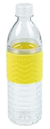 16.9-Ounce Chevron Gray Copco 2510-2181 Hydra Reusable Tritan Water Bottle with Spill Resistant Lid and Non-Slip Sleeve
